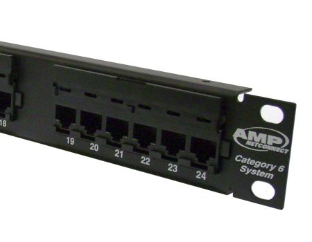 AMP Category 6 Patch Panel, Unshielded, 24-Port, SL